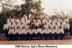 1985 Belize Sgts Mess Members