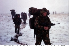 1990 Falklands Ex Ric Release Capt Sykes leads Coy to FUP