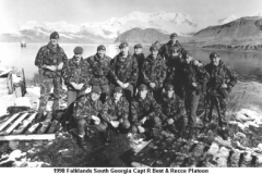 1990 Falklands South Georgia Capt R Best & Recce Platoon
