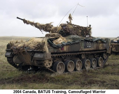 2004 Canada BATUS Warrior with camouflage
