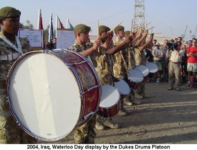 2004 Iraq War Waterloo Day Display by Drums Platoon