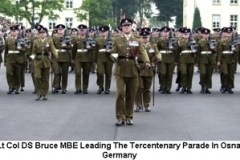 2002 Lt Col DS Bruce MBE Leading The Tercentenary Parade in Osnabruck