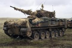2004 Canada BATUS Warrior with camouflage