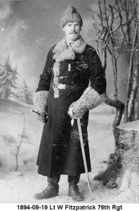 1894 Nova Scotia Halifax, Lt W Fitzpatrick 2DWR