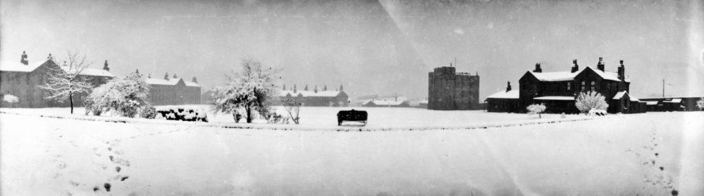 1920 Wellesley Park Barracks in Winter