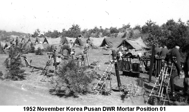 1952 November Korea Pusan DWR Mortars