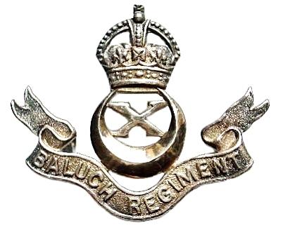 Baluch Regiment Cap Badge 1945-56