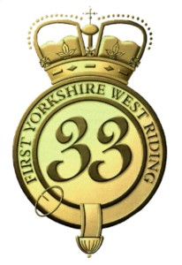 1st Yorkshire West Riding Regiment (DWR) Badge