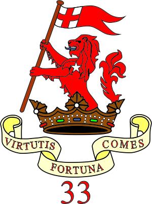 Duke of Wellington/'s Regiment Honorary colours flag