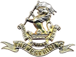 DWR Cap Badge Brass