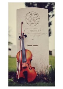 Grave of 204708 Pte S Howard KIA June 1917 With Fiddle made by him found 100 years later and played by Sam Sweeney